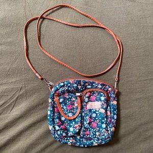 QIAO JIA REN Green Crossbody Bag w/ Leather Strap